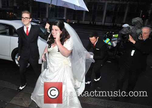 Tom Fletcher, Harry Judd and Bride Claire Gilchrist 2