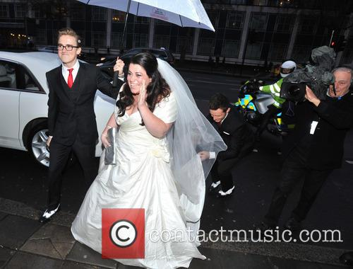 Tom Fletcher, Harry Judd and Bride Claire Gilchrist 1