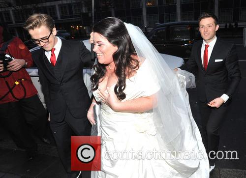 Tom Fletcher, Harry Judd and Bride Claire Gilchrist 6