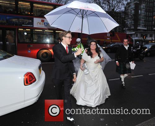 Tom Fletcher, Harry Judd and Bride Claire Gilchrist 9