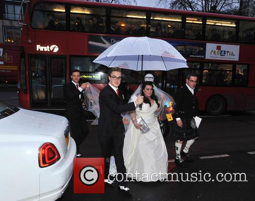 Tom Fletcher, Harry Judd and Bride Claire Gilchrist 10