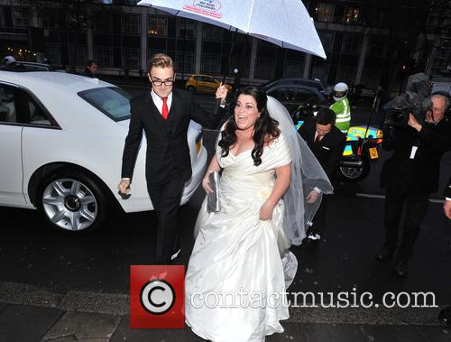 Tom Fletcher, Harry Judd and Bride Claire Gilchrist 11