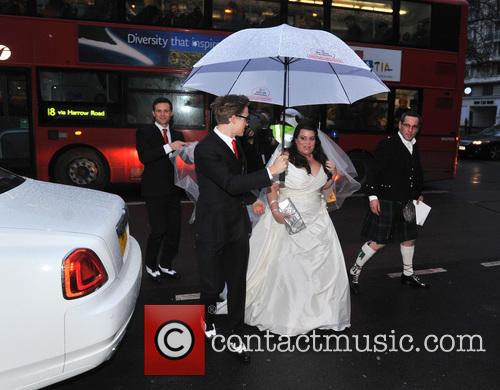 Tom Fletcher, Harry Judd and bride Claire Gilchrist 7