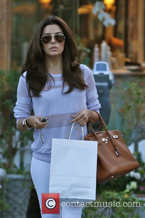 Birthday girl Eva Longoria at the salon