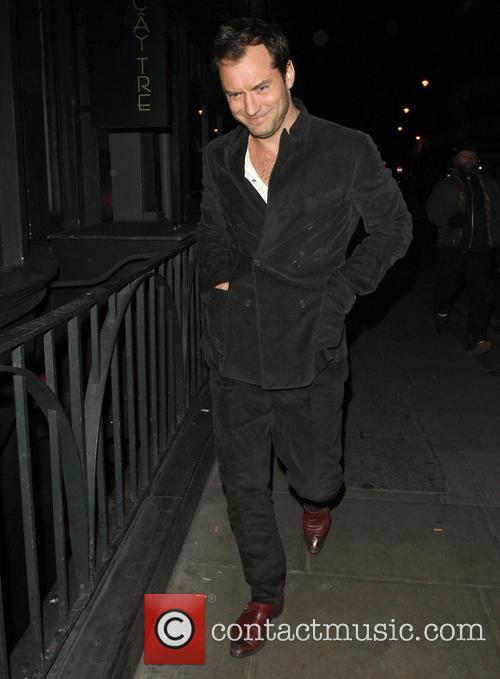 Jude Law Leaving Groucho Club