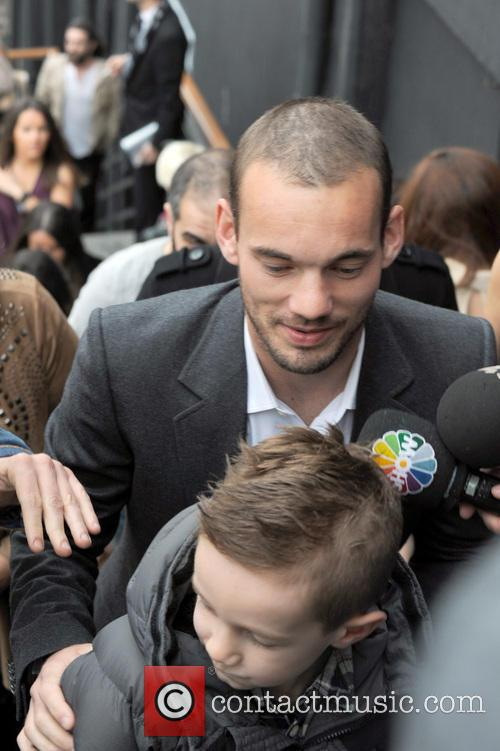 Wesley Sneijder and Son Jessey 2