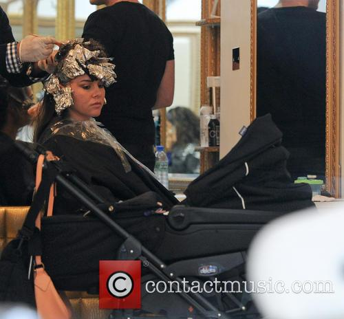 Imogen Thomas at the hairdresser