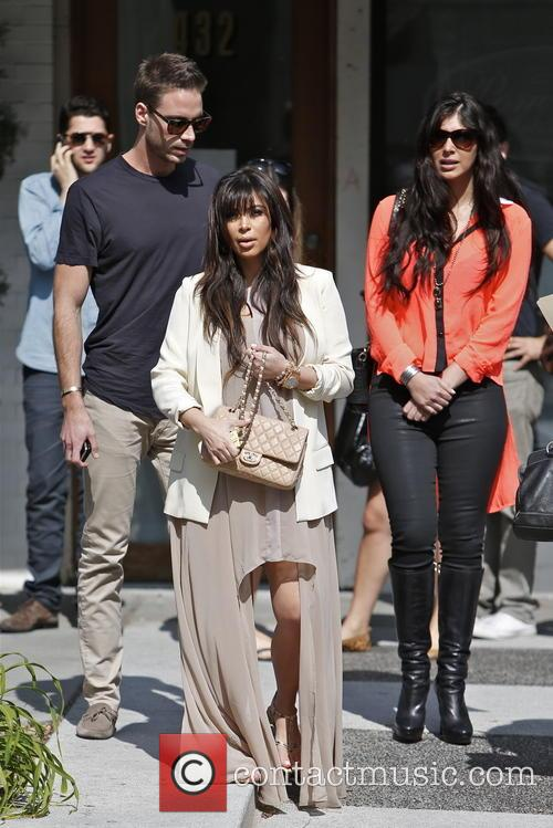 Kim Kardashian, Brittny Gastineau and Simon Huck 2