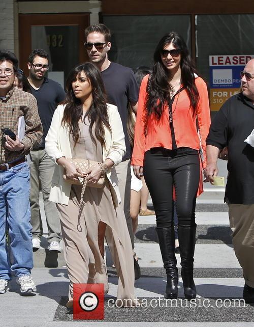 Kim Kardashian, Brittny Gastineau and Simon Huck 9