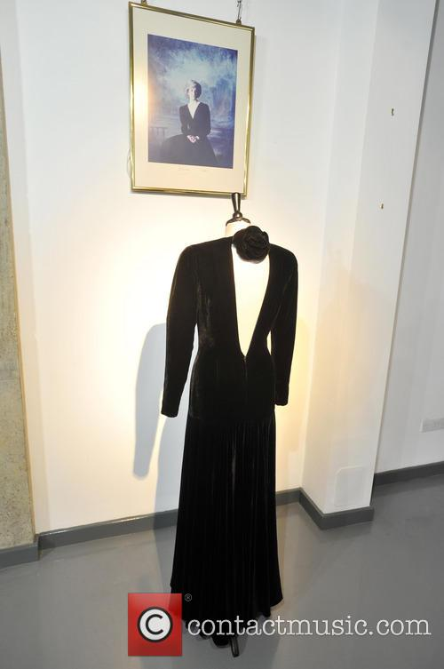 A Bruce Oldfield Black Velvet Evening Gown, Worn For An Official Portrait By Lord Snowdon, At The First Night Gala Opening Of 'les Miserables' In 1985. Est. Gbp30-50000. and Atmosphere 5