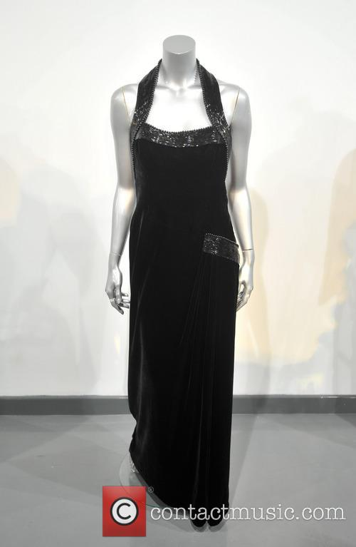 A Catherine Walker Black Velvet, Beaded Evening Gown, Worn For The Vanity Fair Photo Shoot By Mario Testino In 1997. Est. 50-70000. and Atmosphere 2