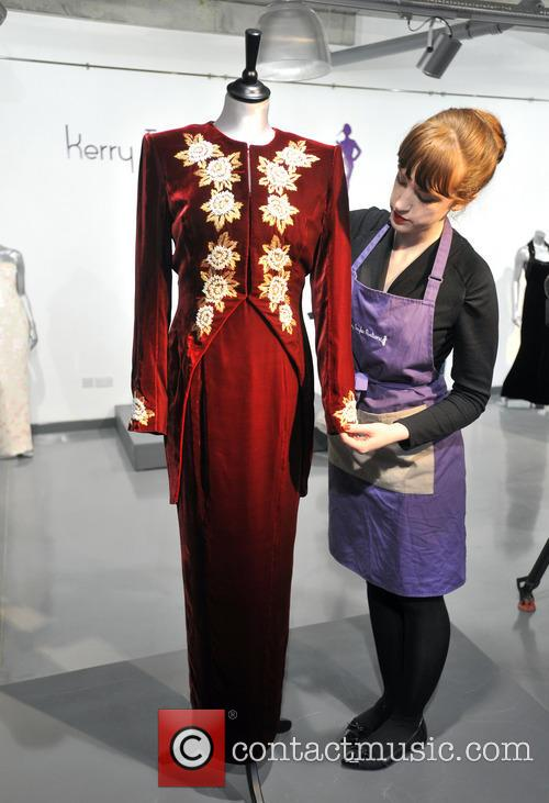 A Catherine Walker Burgundy Velvet With Embroidered Tailcoat, Worn For The State Visit Of Korea In 1992, And To The Premiere Of 'steel Magnolias' In 1990. Est. Gbp40-60000. and Atmosphere 2