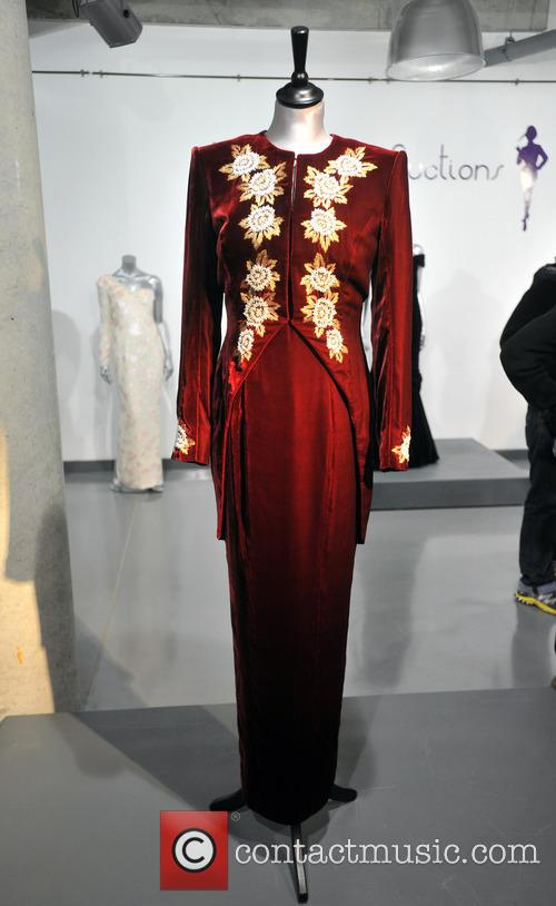 A Catherine Walker Burgundy Velvet With Embroidered Tailcoat, Worn For The State Visit Of Korea In 1992, And To The Premiere Of 'steel Magnolias' In 1990. Est. Gbp40-60000. and Atmosphere 4