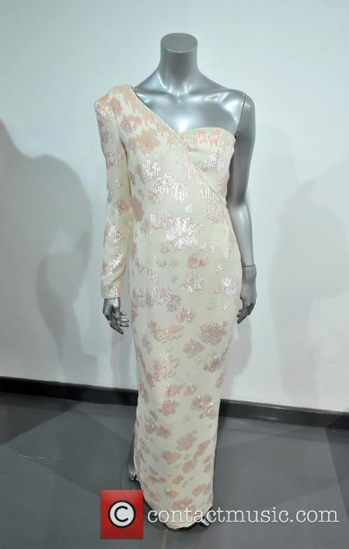 A Catherine Walker Pink Sequinned Ivory Crepe Gown Worn At A Banquet Given By President Collor On A State Visit To Brazil In 1991. Est. Gbp40-60000. and Atmosphere 6