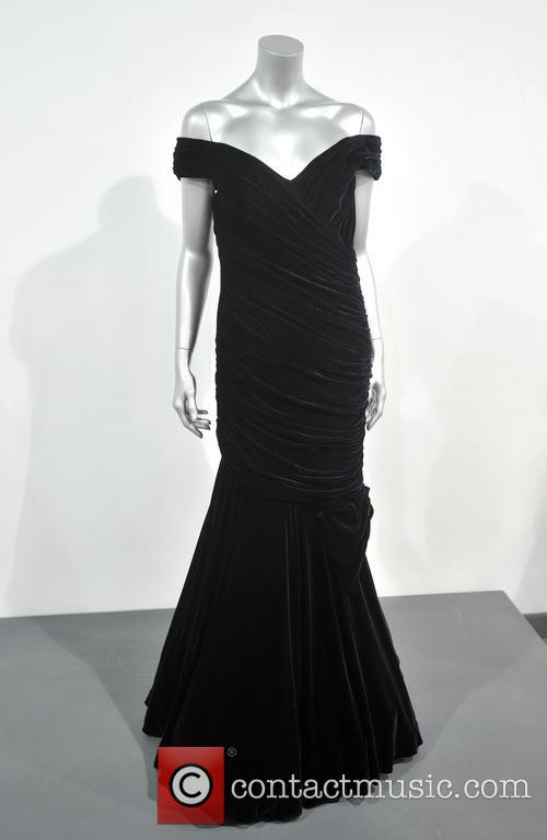 A Victor Edelstein Midnight-blue Velvet Evening Gown Worn For The State Dinner At The White House Given By President Reagan In 1985. Est. Gbp200-300000. and Atmosphere 2