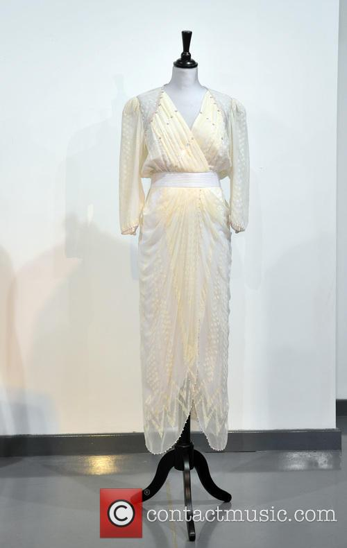 A Zandra Rhodes White Chiffon Cocktail Dress, Worn To The Birthright Benefit At The London Palladium In 1987. Est. Gbp30-40000. and Atmosphere 4