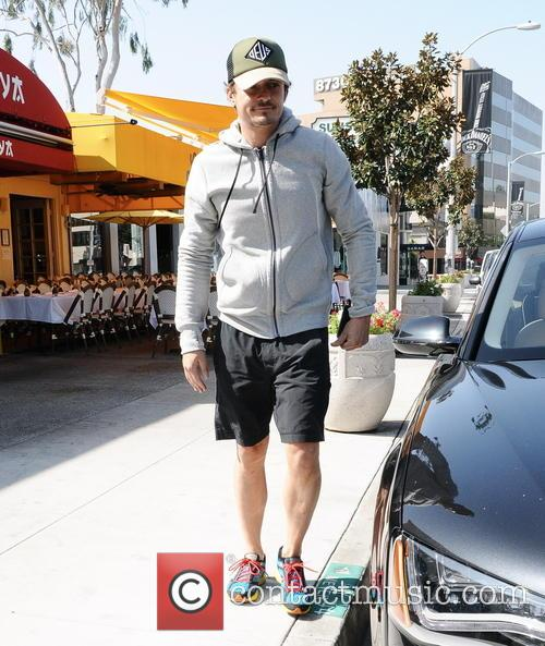Orlando Bloom seen leaving a store in Sunset...