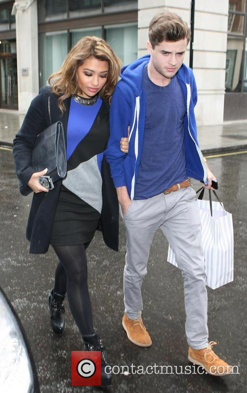 Vanessa White - The Saturdays, leaving the Radio 1 studios ...