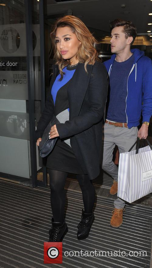 The Saturdays, leaving the Radio 1 studios.