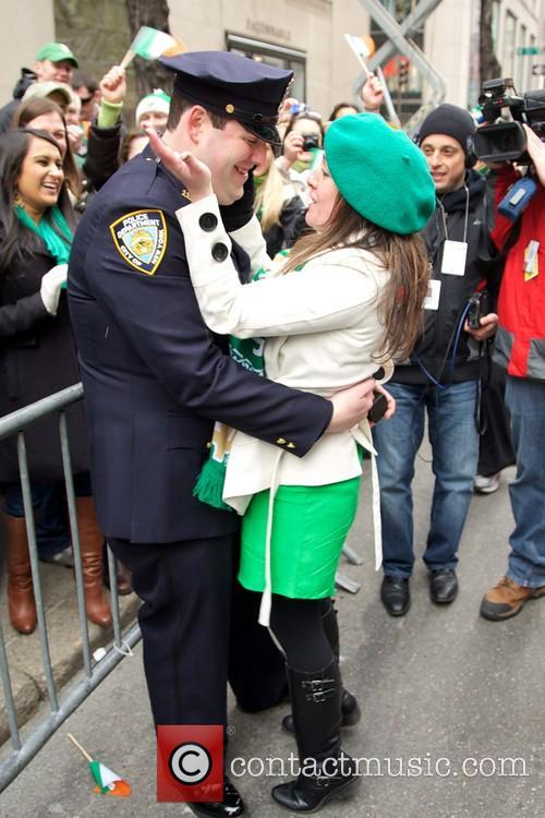 NYPD  Officer Vierling proposes to his girlfriend...