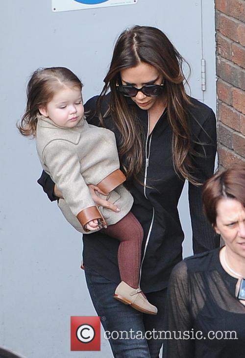 Victoria Bechkam and Harper Beckham 2