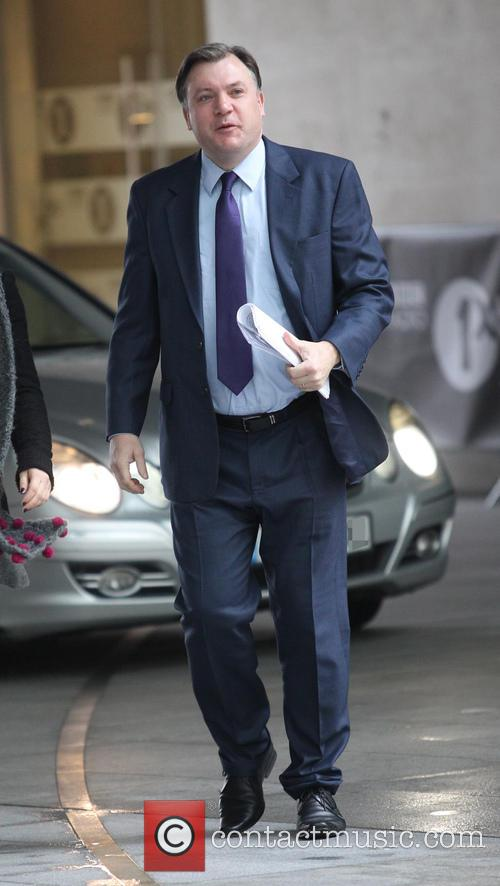 Ed Balls arriving at BBC Broadcasting House