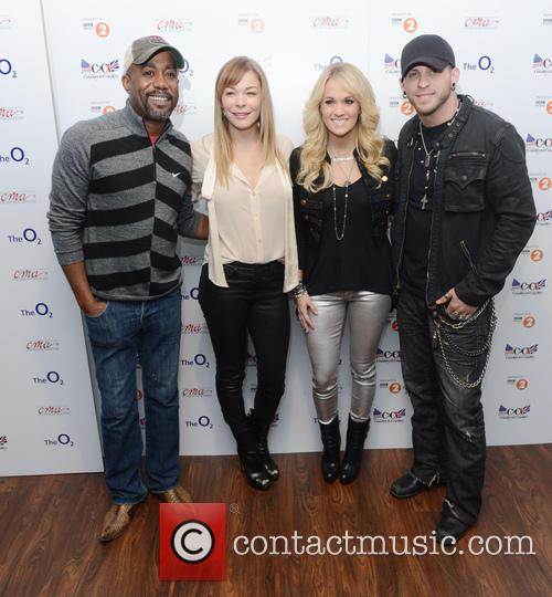 Darius Rucker, Leann Rimes, Carrie Underwood and Brantley Gilbert 2