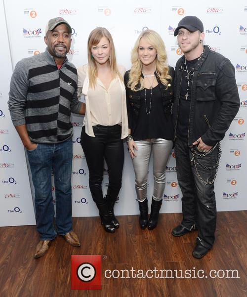 Darius Rucker, Leann Rimes, Carrie Underwood and Brantley Gilbert 1