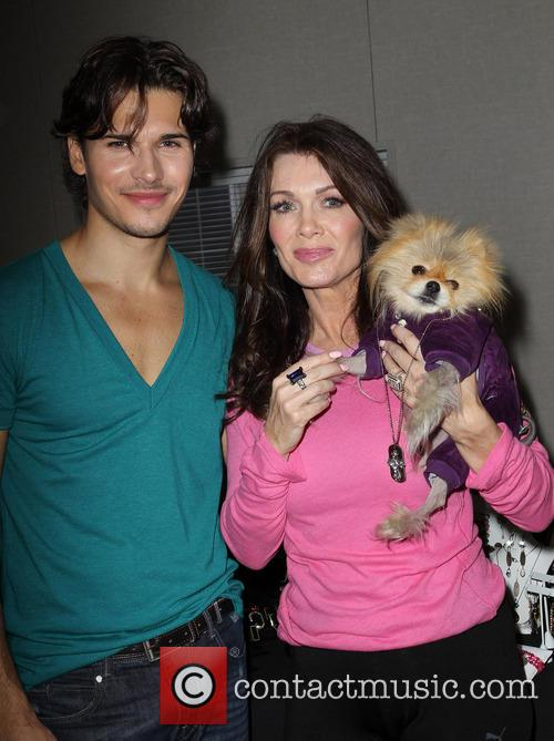 Lisa Vanderpump, Gleb Savchenko and Giggy 8