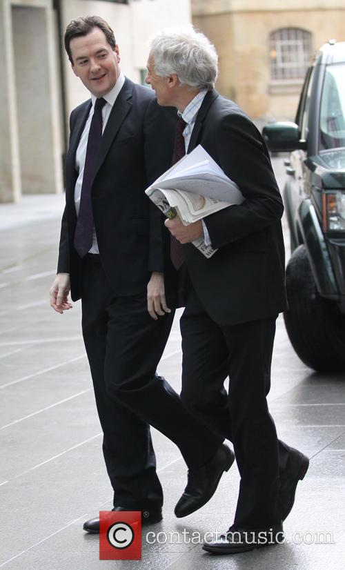 Chancellor George Osborne arriving at BBC Broadcasting House