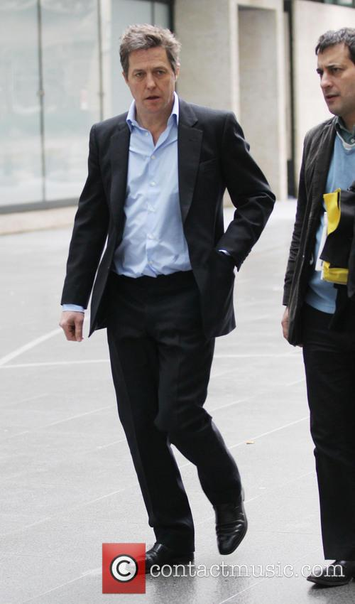 Hugh Grant arriving at the BBC Broadcasting House