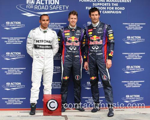 Lewis Hamilton, Sebastian Vettel and Mark Webber 2