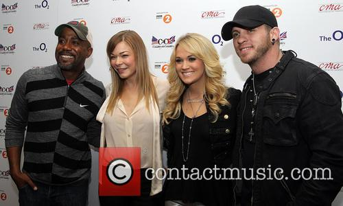 Darius Rucker, Leann Rimes, Carrie Underwood and Brantley Gilbert 4