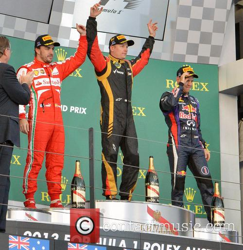 Fernando Alonso, Kimi Raikkonen and Sebastian Vettel 1