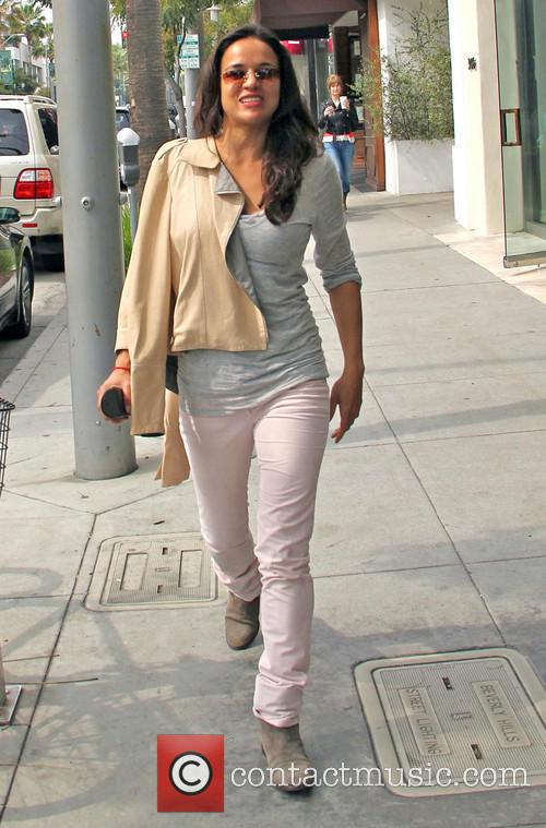 Michelle Rodriguez seen at an optical store