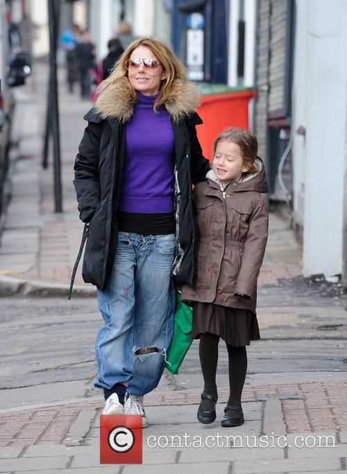 Geri Halliwell and Bluebell Halliwell 6
