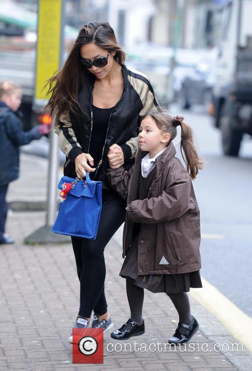 Myleene Klass takes her daughter Ava to school
