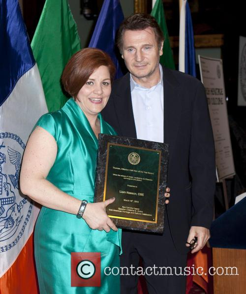 Christine Quinn and Liam Neeson