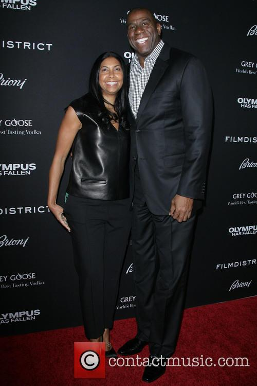 Earvin 'magic' Johnson and Wife Cookie 2