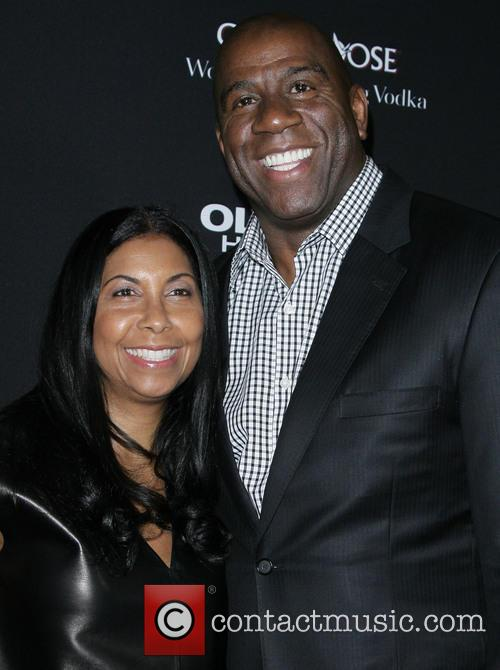 Earvin 'magic' Johnson and Wife Cookie 1