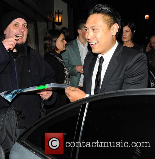 jon m chu celebrities leave the ivy 3562554