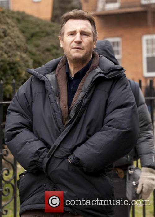 Liam Neeson, A Walk Among The Tombstones Set