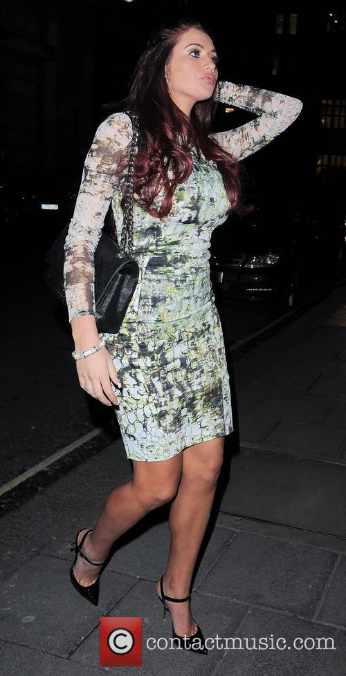 Amy Childs seen leaving her hotel