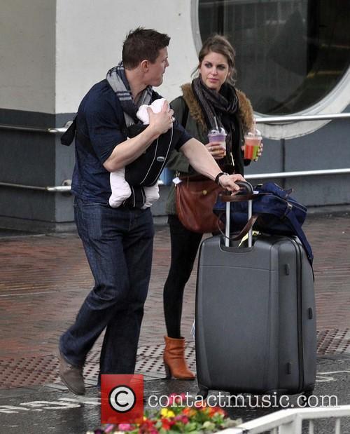 Celebrities arriving at Dublin airport