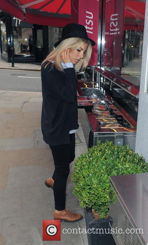Mollie King from girl group The Saturdays, gets...