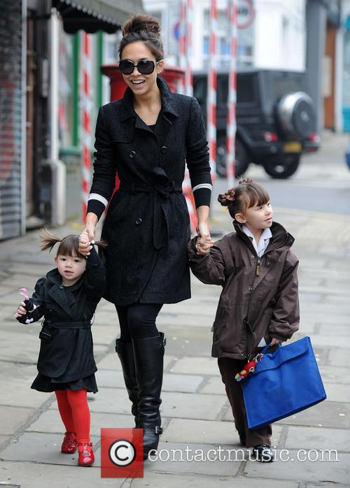 Myleene Klass, Ava Quinn and Hero Quinn 1