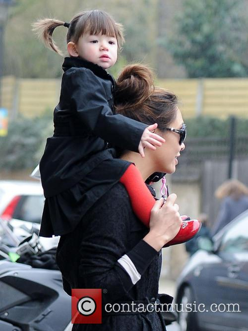 Myleene Klass takes her two daughters to school