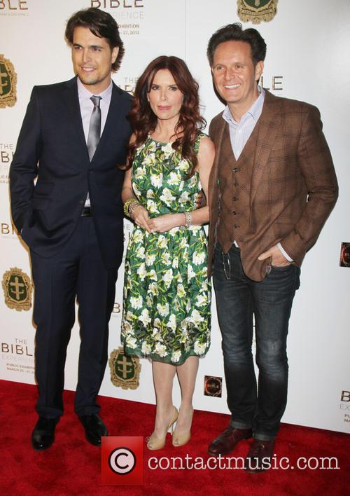 Diogo Morgado, Mark Burnett and Roma Downey 11