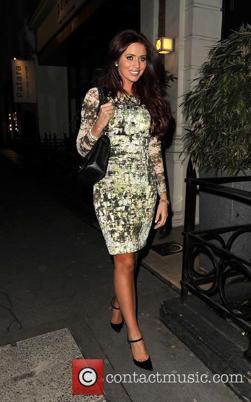 Amy Childs Arriving At Patara Thai Restaurant