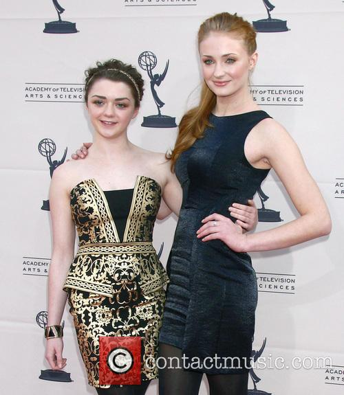 Maisie Williams and Sophie Turner 6